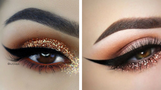 glitter eyes, make up trend, make up looks, glitter make up, wedding make up