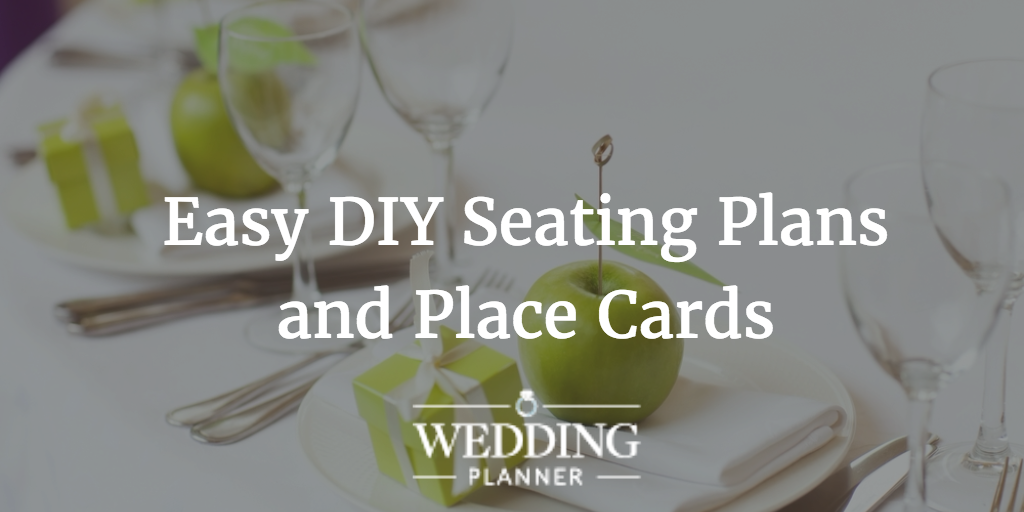 DIY seating plan and place cards