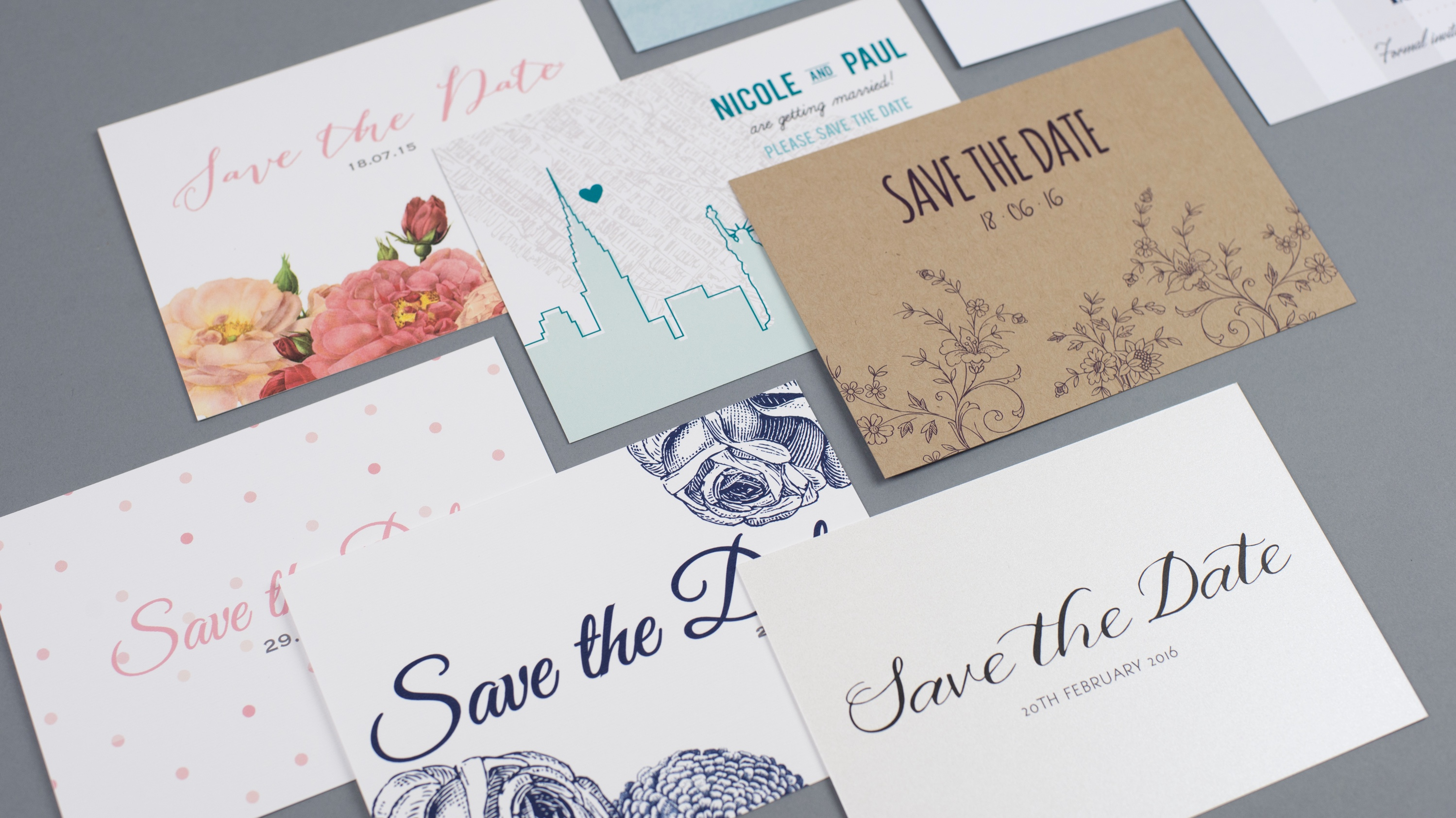 save the dates, dimitria jordan, wedding stationery