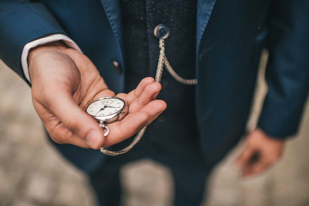groom wearing pocket watch