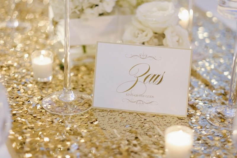 wedding table names, wedding table ideas, greek mythology names