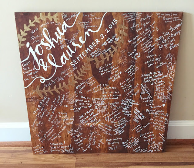 wedding guestbook signed