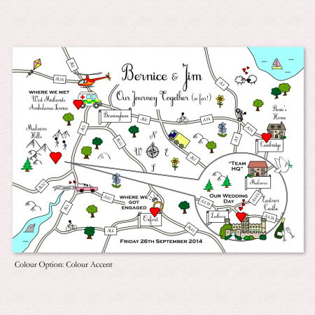 Cute Maps Wedding Invitations