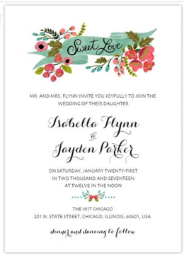 Floral Wedding Invitations - Wedding Planner - WeddingPlanner.co.uk