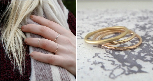 nikki stark, wedding ring, wedding band, gold wedding band