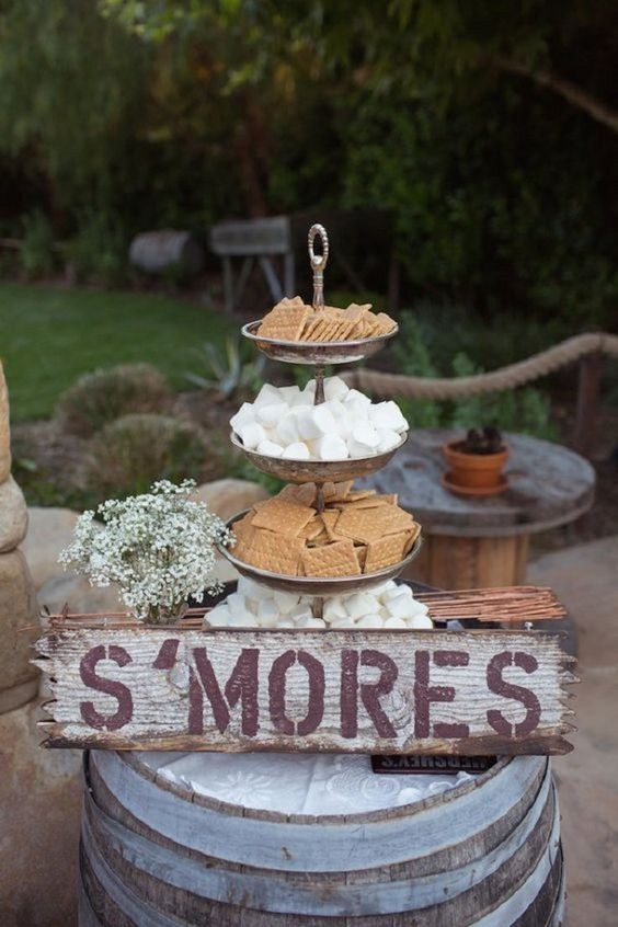 s'mores, wedding ideas, wedding trends for autumn, autumn wedding trends